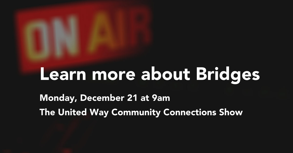 Bridges will be on the air on December 21, 9-10am